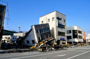 岩手県釜石市の被災地